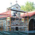 Trabajos de rehabilitación de fachada en la Ermita de la Magdalena