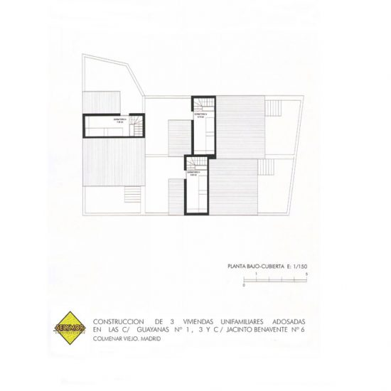 Próxima construcción de 3 viviendas unifamiliares en la Calle Jacinto Benavente 6 y Guayanas 1 y 3 de Colmenar Viejo