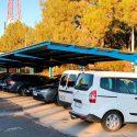 Construcción de estructura metálica y chapa para parking en ETAP Santillana