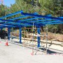 Construcción de estructura metálica para parking en ETAP Santillana