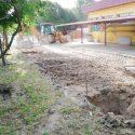Construcción de estructura metálica y chapa para parking en ETAP El Bodonal