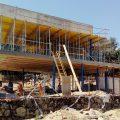 Construcción de techo y muros