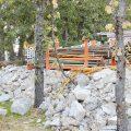 Fase de excavación y preparación de material