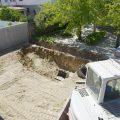 Excavación para piscina