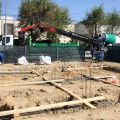 Fase de cimentación de la nueva vivienda