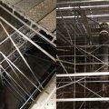 Colocación de andamios para impermeabilización interior de digestores